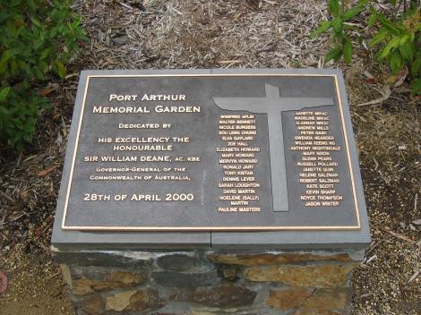 Memorial stone in memorial garden