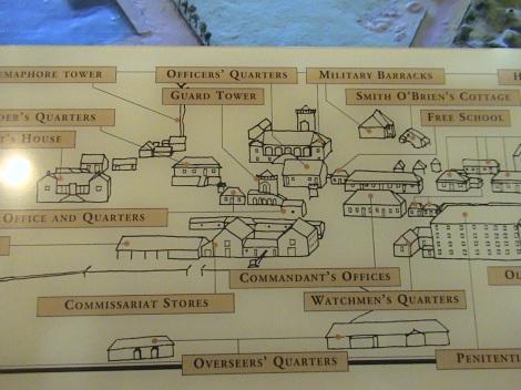 Map in Port Arthur Interpretive Centre