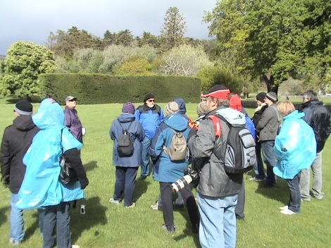 Guide takes a group around the grounds of Port Arthur