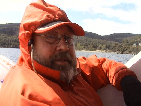 PBull-Media's Peter Bull rugged up for the Bruny Island Cruises adventure