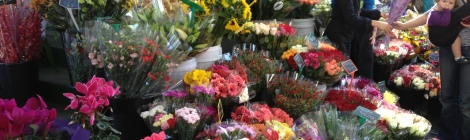 Flower stall at Victoria Market