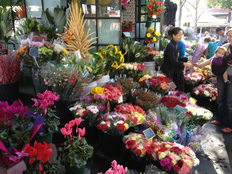 Flower stall at Victoria Market