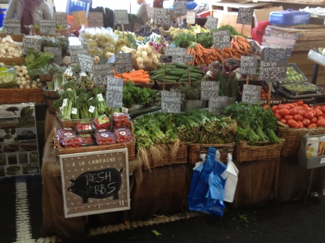 Wide variety of fresh fruit and vegetables at Victoria Market