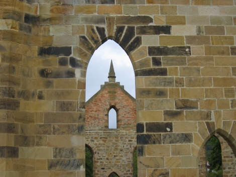 Church ruins at Port Arthur