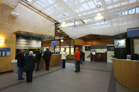 Inside the Port Arthur Visitor Centre