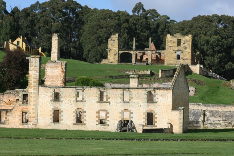 Part of the famous penitentiary at Port Arthur