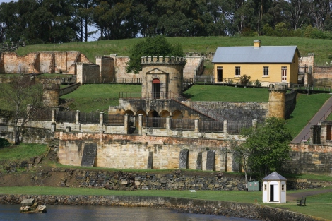 Ruins of the old courthouse at Port Arthur