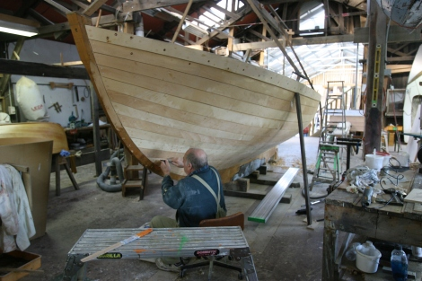 Wooden boat building centre at Franklin, south of Huonville