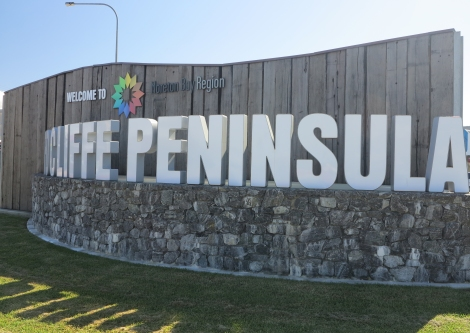 Redcliffe Peninsula sign at Clontarf