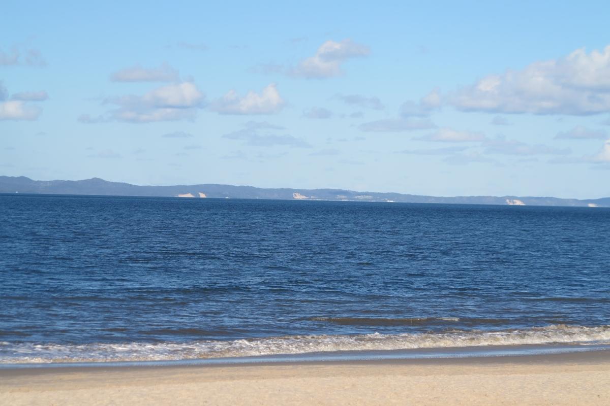 View from Woorim to Moreton Island