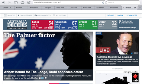 Brisbane Times home page slider had error