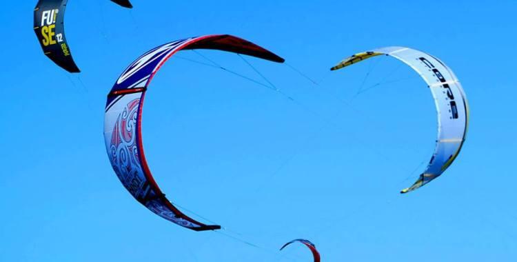 Kites above Bramble Bay at Brighton