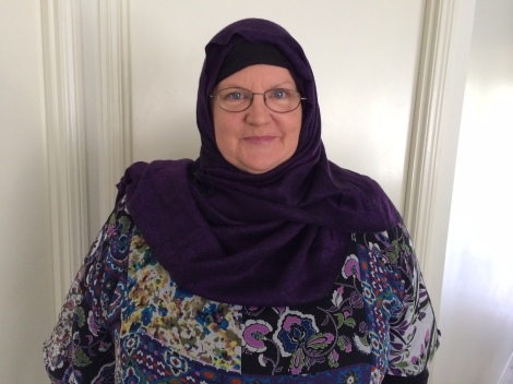 Trina McLellan in her hijab before leaving home