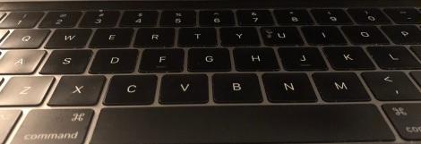 MacBook Pro black keyboard