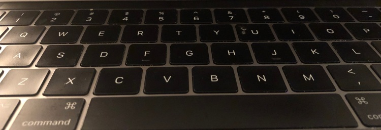 MacBook Pro black keyboard